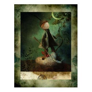 Jean the drawer Lune Postcard