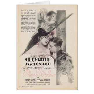 Jeanette MacDonald Merry Widow movie ad 1934 Card