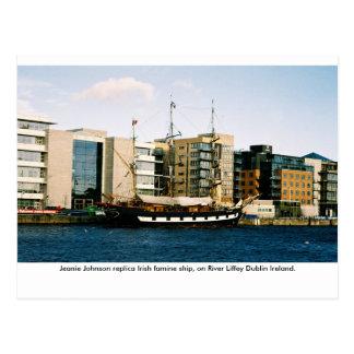 Jeanie Johnson Irish famine ship, Dublin Ireland Postcard