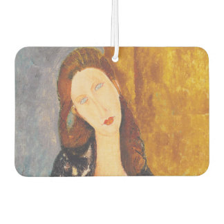 Jeanne Hebuterne portrait by Amedeo Modigliani Car Air Freshener