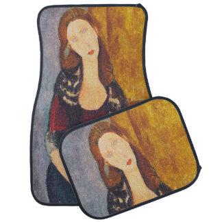 Jeanne Hebuterne portrait by Amedeo Modigliani Car Mat