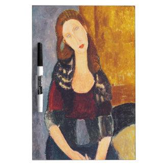 Jeanne Hebuterne portrait by Amedeo Modigliani Dry Erase Board