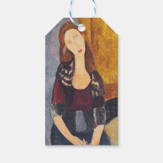 Jeanne Hebuterne portrait by Amedeo Modigliani Gift Tags