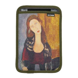 Jeanne Hebuterne portrait by Amedeo Modigliani iPad Mini Sleeve