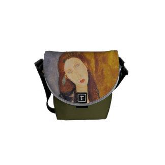 Jeanne Hebuterne portrait by Amedeo Modigliani Messenger Bag