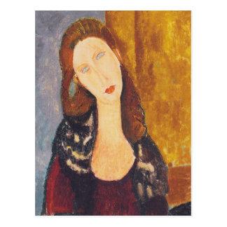 Jeanne Hebuterne portrait by Amedeo Modigliani Postcard
