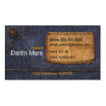 Jeans Business Card Template