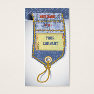 Jeans Denim Business Card