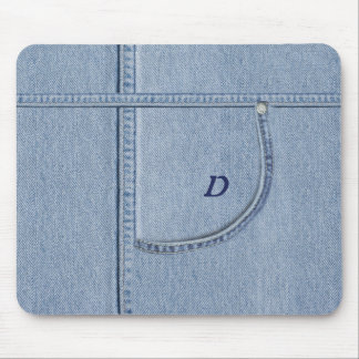 """Jeans"" Mousepad with (or without) your Initial"