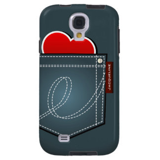 Jeans Pocket And Heart Samsung S4  Case