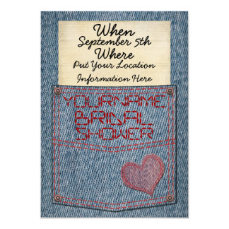 Jeans Pocket Bridal Shower Invitations