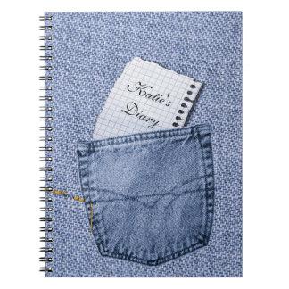 Jeans pocket Notepad Diary Notebook