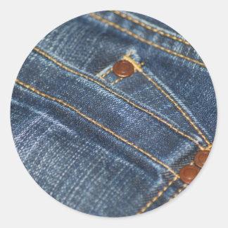 Jeans Round Sticker