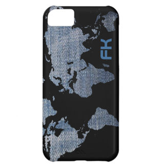 jeans world map customizable iPhone 5C case