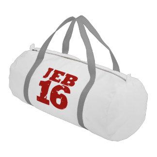 Jeb 16 Campaign Jersey Distressed Gym Duffel Bag