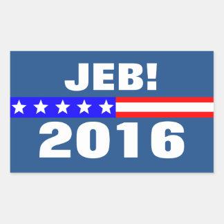 Jeb 2016 Presidential Election Campaign Rectangular Sticker