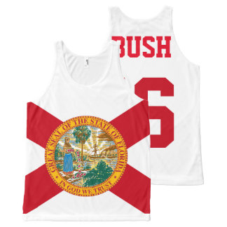 Jeb Bush 2016 for President Florida Flag All-Over Print Singlet