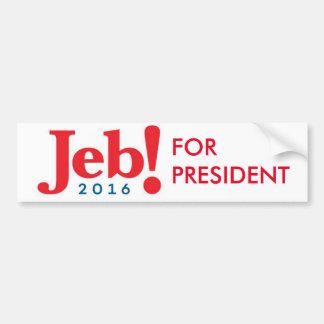 Jeb Bush for President 2016 bumper sticker
