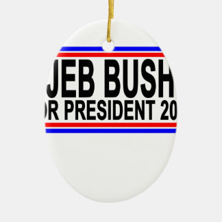 JEB BUSH FOR PRESIDENT 2016 Tee Shirts.png Ceramic Oval Decoration