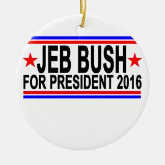 JEB BUSH FOR PRESIDENT 2016 Tee Shirts.png Round Ceramic Decoration