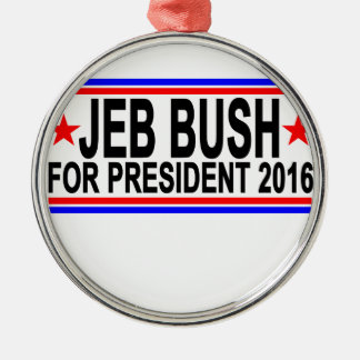JEB BUSH FOR PRESIDENT 2016 Tee Shirts.png Silver-Colored Round Decoration