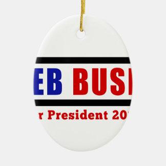 Jeb Bush for President in 2016 Ceramic Oval Decoration