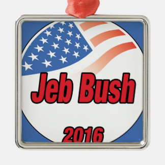 Jeb Bush for president on 2016 Silver-Colored Square Decoration
