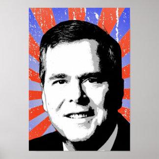 Jeb Bush Portrait Poster