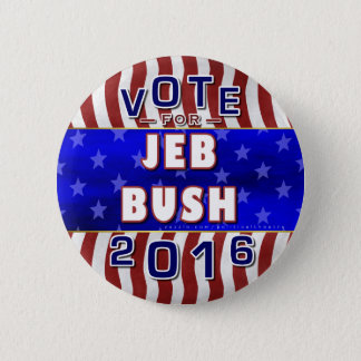Jeb Bush President 2016 Election Republican 6 Cm Round Badge