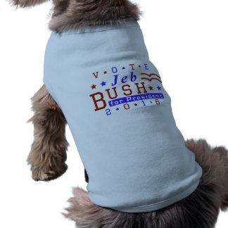 Jeb Bush President 2016 Election Republican Sleeveless Dog Shirt