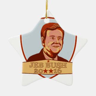 Jeb Bush President 2016 Shield Ceramic Star Decoration
