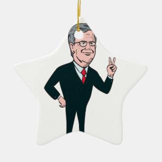 Jeb Bush Republican Candidate 2016 Cartoon Ceramic Ornament