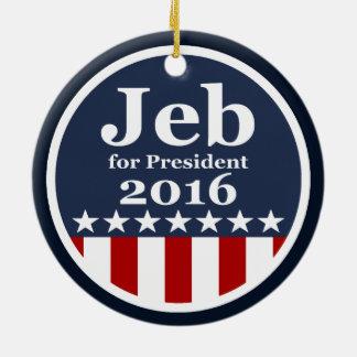 Jeb for President 2016 Round Ceramic Decoration