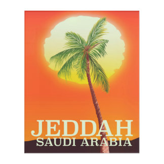 Jeddah Saudi Arabia Vacation poster Acrylic Wall Art