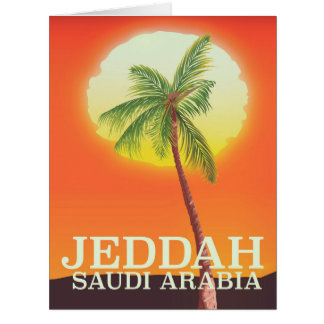 Jeddah Saudi Arabia Vacation poster Card
