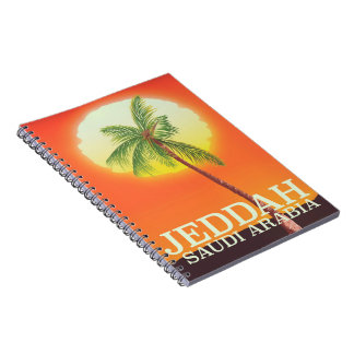 Jeddah Saudi Arabia Vacation poster Notebook