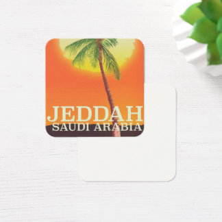 Jeddah Saudi Arabia Vacation poster Square Business Card