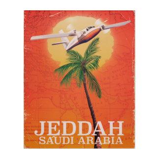 Jeddah Saudi Arabia vintage map travel poster. Acrylic Print