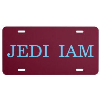 Jedi I Am Funny Cool Custom Aluminum License Plate