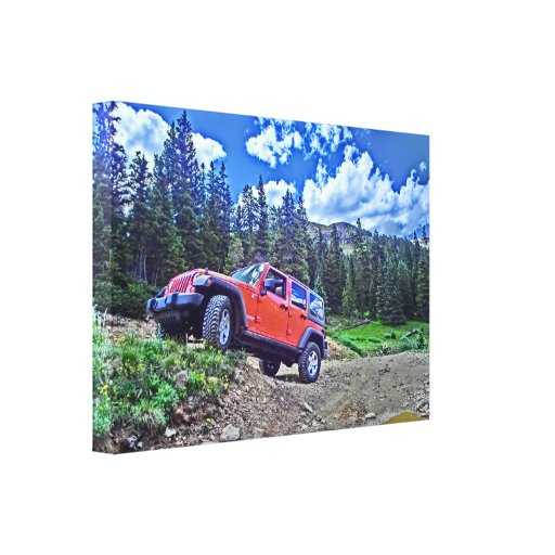 Jeep Adventure canvas Stretched Canvas Print