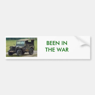 JEEP, BEEN IN THE WAR BUMPER STICKER