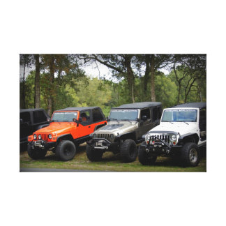 Jeep Club Gallery Wrapped Canvas