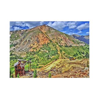Jeep Colorado mountain mine canvas Canvas Print