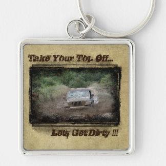 """Jeep"" Lets Get Dirty- Muddin' Keychain"