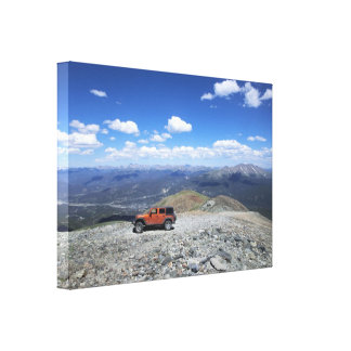 Jeep mountain adventure canvas gallery wrapped canvas