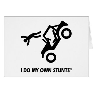Jeep My Own Stunts Greeting Card