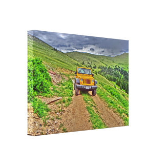 Jeep outdoor scenic mountain canvas gallery wrap canvas