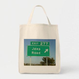 Jeep Road Sign Bag