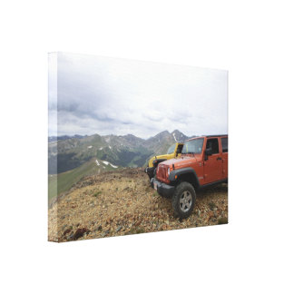 Jeep Rubicon mountain scenic canvas Canvas Prints