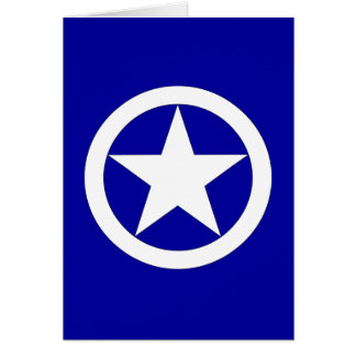 Jeep Star - White Greeting Card